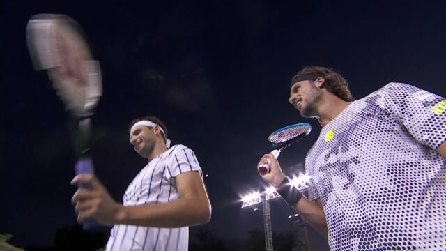 Skrót meczu Lopez - Dimitrow w Ultimate Tennis Showdown 2