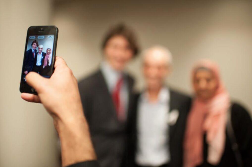 Zdjęcia z wyborcami