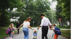 Państwo Trudeau z synami Xavierem Jamesem i Hadrienem oraz córką Ella-Grace Margaret