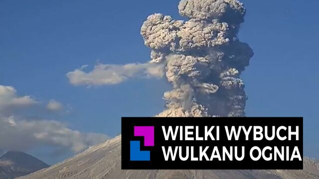 Wielki wybuch wulkanu ognia