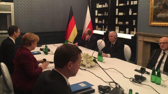Spotkanie Merkel-Kaczyński. Wcześniej rozmowy z opozycją