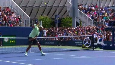 Refleks tenisisty. Tylko on wie, jak to odbił
