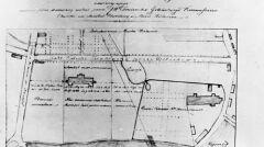 Plan sytuacji położenia Szpitala Wszystkich Świętych w Wieluniu
