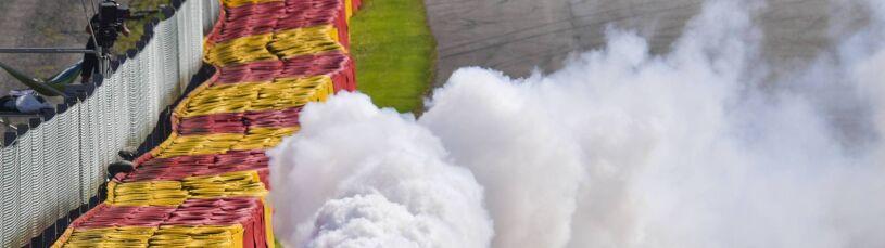 Pożar silnika w aucie Kubicy. Dublet Ferrari w kwalifikacjach