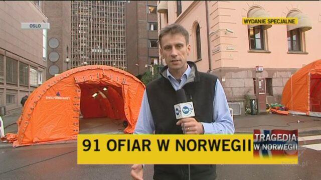 Reporter TVN24 relacjonuje z Oslo dzień po zamachu