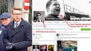 Nie chce, by porównywać narodowców z nazistami, na FB miał zdjęcie hitlerowskiego zbrodniarza
