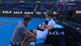 Miedwiediew potrzebował interwencji fizjoterapeuty po pokonaniu Rublowa