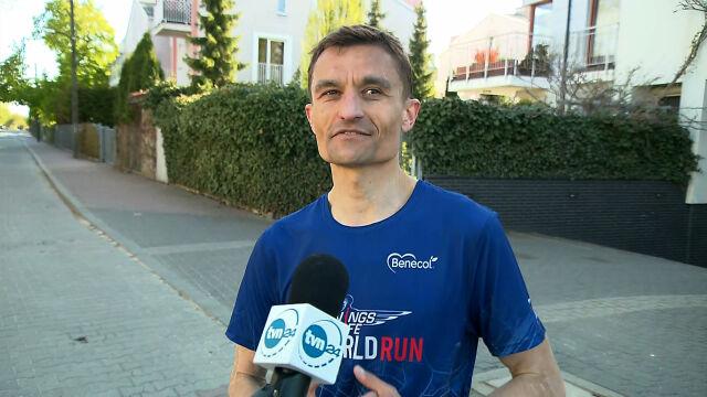 Polski bohater biegu Wings for Life: tutaj cały czas się coś działo