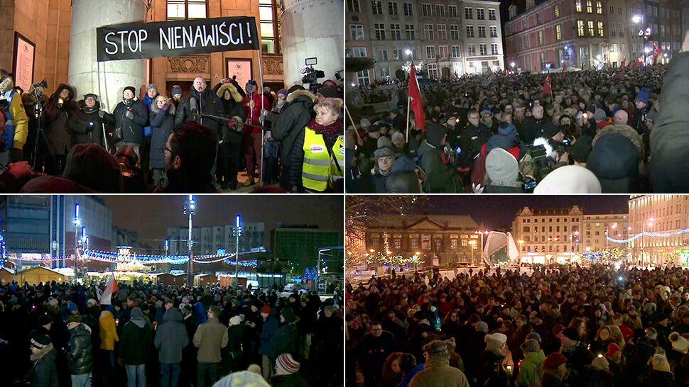 Łzy i cisza. Wiece w całej Polsce