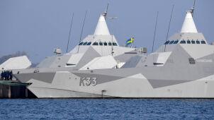 Szwedzka marynarka wraca do bazy z zimnej wojny.