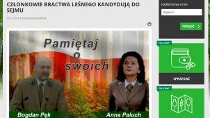Kandydaci PiS na stronie Lasów Państwowych.