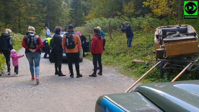 W Tatrach przewróciła się dorożka  z turystami.