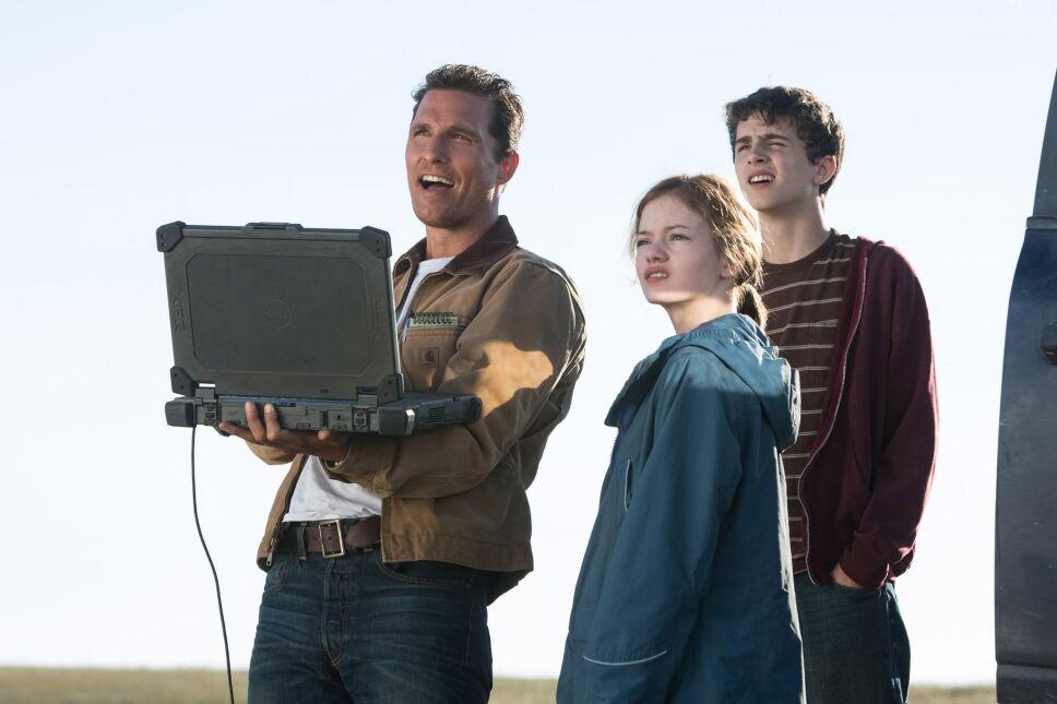 Matthew McConaughey, Timothée Chalamet i Mackenzie Foy