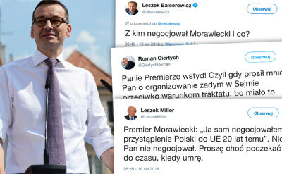 Morawiecki w Sandomierzu: negocjowałem przystąpienie Polski do Unii Europejskiej