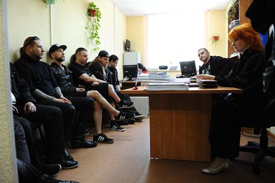 Behemoth słucha decyzji sędzi w sądzie w Jekaterynburgu