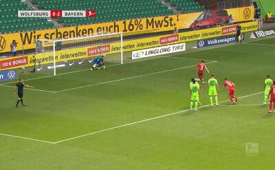 Gol Roberta Lewandowskiego w meczu Wolfsburg - Bayern w 34. kolejce Bundesligi