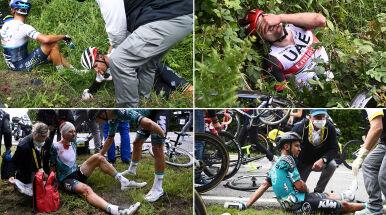 Dramatyczne wydarzenia w Tour de France. Podano pełną listę obrażeń zawodników