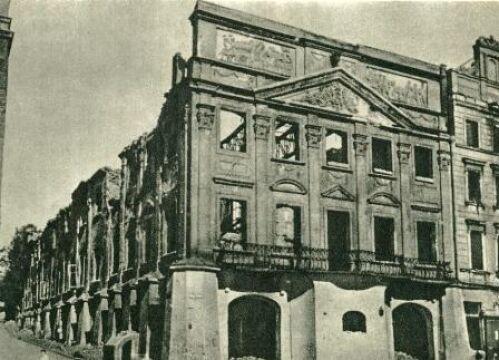 Zrujnowany Pałac Działyńskich