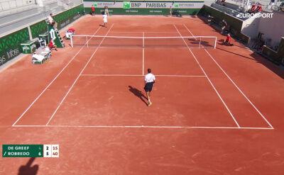 Skrót meczu De Greef - Robredo w 1. rundzie kwalifikacji do Roland Garros
