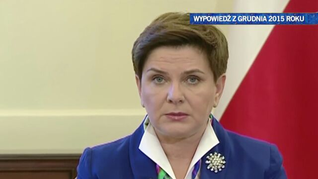 Beata Szydło tłumaczy, czego PiS robić nie zamierza