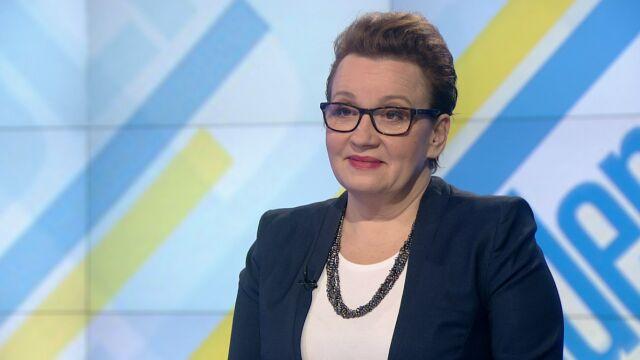 "Anna Zalewska w ""Jeden na jeden"""