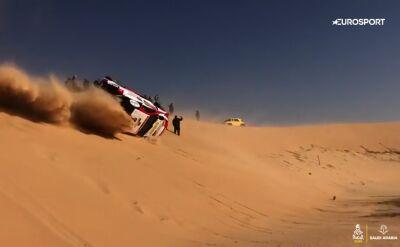 Niebezpieczny wypadek Alonso na 10. etapie Rajdu Dakar