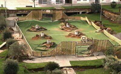 W Santander na północy Hiszpanii obsunęła sięziemia pod placem zabaw