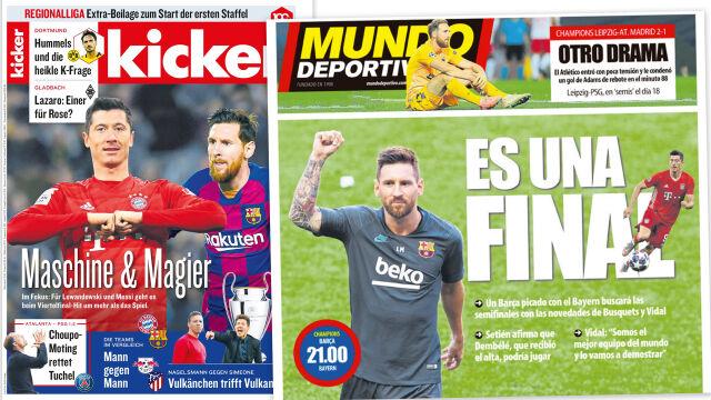 """Messi vs """"Lewy"""" na okładkach, gracz Barcelony ostrzega. """"To nie Bundesliga"""""""