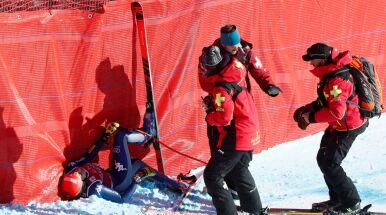 Wypadek przy prędkości 110 km/h i poważna kontuzja alpejki
