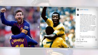 Legenda gratuluje legendzie. Pele pisze do Messiego