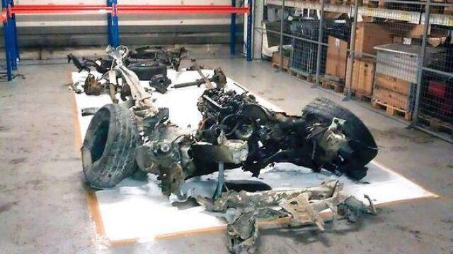 Szczątki samochodu-bomby. Wystawa z resztek sprzętu Breivika