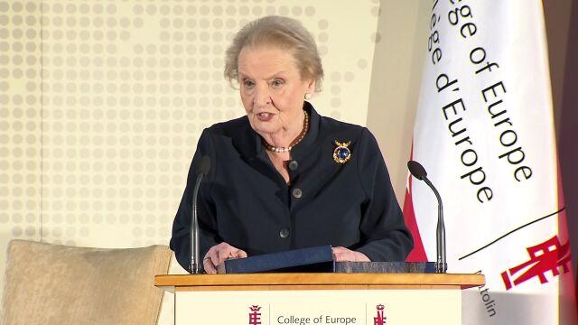 Albright: sojusz Polski  i USA jest oparty na interesach i wartościach