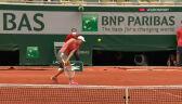 Fantastyczny skrót Świątek w 1. secie starcia z Kontaveit w 3. rundzie French Open