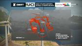 Trasa wyścigu mężczyzn w e-sportowych mistrzostwach świata w kolarstwie