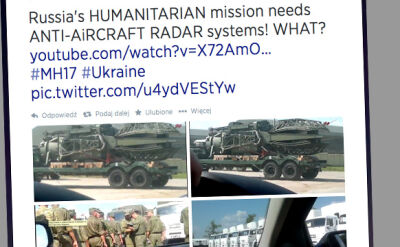 Rosyjski konwój jedzie na Ukrainę