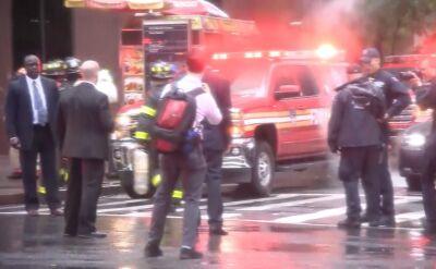 Helikopter uderzył w dach budynku na Manhattanie