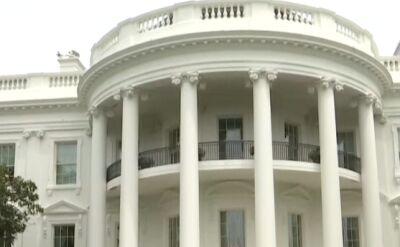 Kamera TVN24 przy południowym trawniku Białego Domu