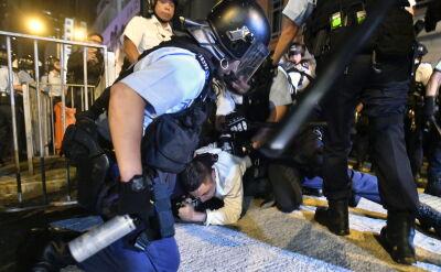 Starcia z policją w Hongkongu
