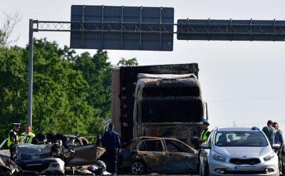 Karambol i pożar na drodze pod Szczecinem