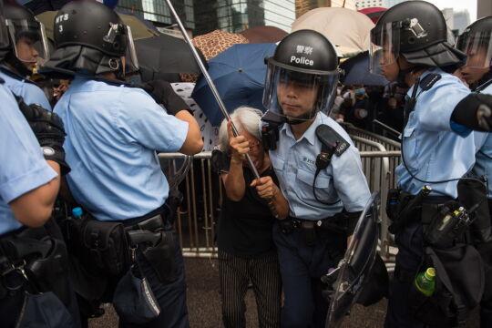 Niespokojnie podczas strajku w Hongkongu
