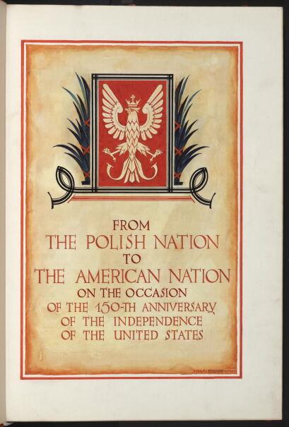 """""""Deklarację Przyjaźni i Podziwu dla Ameryki"""""""
