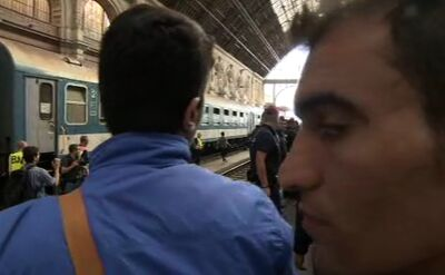 Reporter TVN24: pociąg z imigrantami na razie nigdzie nie odjedzie