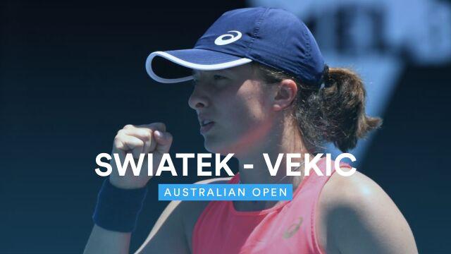 Skrót meczu Świątek - Vekić w 3. rundzie Australian Open
