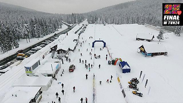 Na nartach pobiegli dla WOŚP.