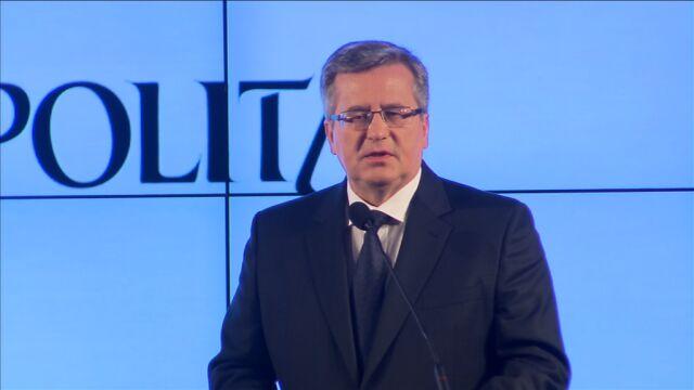 Bronisław Komorowski: Trzeba umacniać ukraińską drogę ku UE