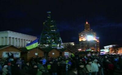 Ukraińcy zbierają się na Majdanie