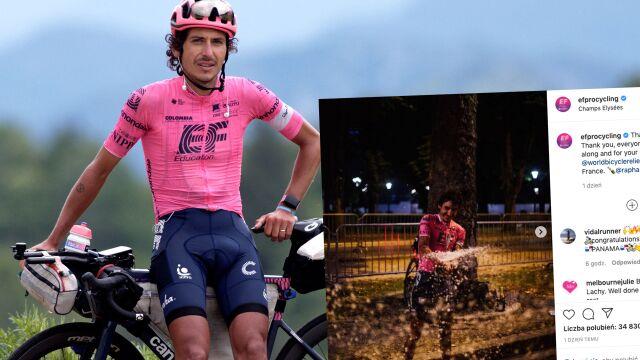 Przejechał trasę Tour de France w klapkach. Zebrał pieniądze na kilka tysięcy rowerów
