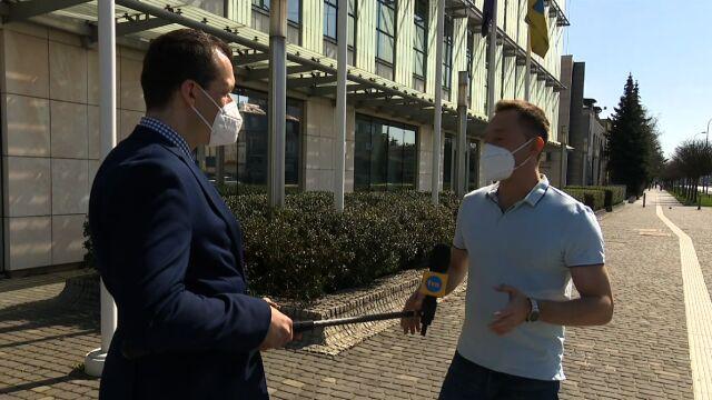 Reporter Fakty TVN Maciej Mazur i prezenter pogody TVN Meteo Tomasz Wasilewski