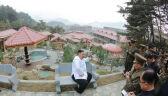 Kim Dzong Un na placu budowy ośrodka spa