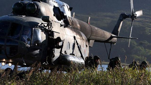 Rosyjskie śmigłowce w opuszczonej amerykańskiej bazie